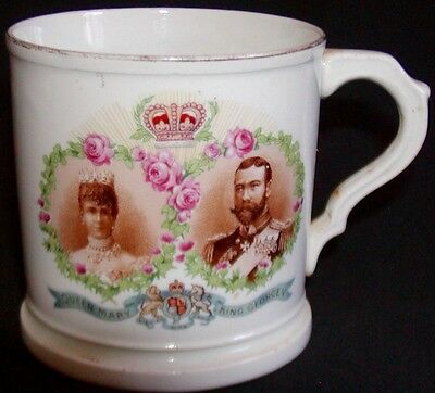 Queen Mary King George England Coronation Commemorative Cup Mug 1911 Royalty