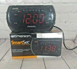 Emerson CKS2862 AM/FM Dual Alarm Clock Radio w/SmartSet Auto Time Setting System