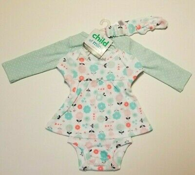 Carter's Child of Mine Baby Infant Girls 3 Piece Set Mint  0-3M 6-9M 12M NWT  - Mine Girls