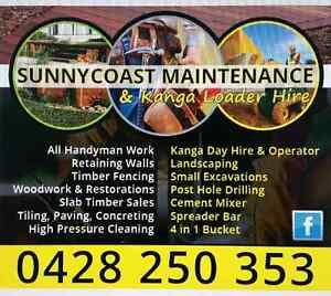 Sunnycoast Maintenance & Kanga Loader Hire Beerwah Caloundra Area Preview
