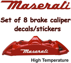 maserati brake caliper decals stickers vinyl graphics emblem l. Black Bedroom Furniture Sets. Home Design Ideas