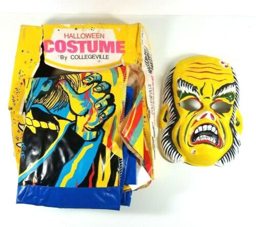 Vintage Halloween Costume Collegeville Monster with Mask Box Phantom Creature