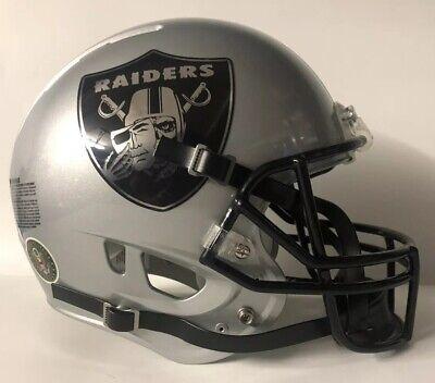 Oakland Raiders Full Size Authentic Rawlings Momentum Custom Football Helmet Oakland Raiders Authentic Helmet