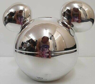 Disney Hucha Mickey Mouse Edición Limitada Plateado Caja de Dinero Olla Primark