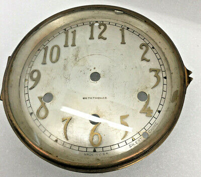 Antique Seth Thomas Westminster Chime #124 Mantel Clock Silver Dial parts