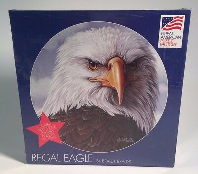 """REGAL EAGLE Great American 500 Piece Jigsaw Puzzle 20 1/2"""" Round New - Sealed for sale  Fontana"""