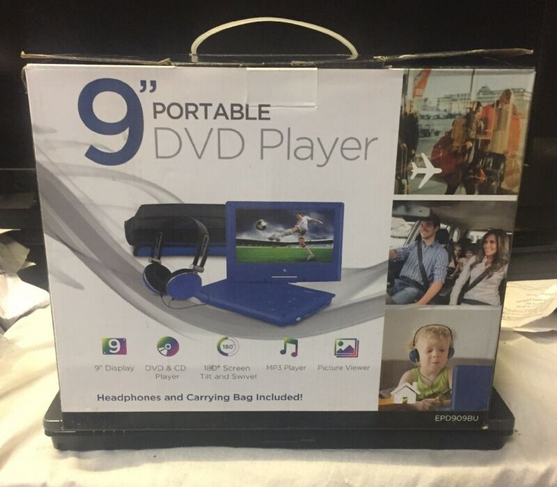 """Ematic 9"""" Portable DVD Player Blue EPD909BU"""