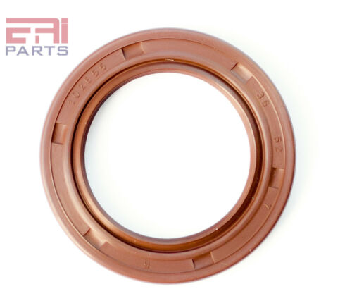 EAI Viton Oil Shaft Seal 35x52x7mm Grease Dbl Lip w/ Stainless Steel Spring