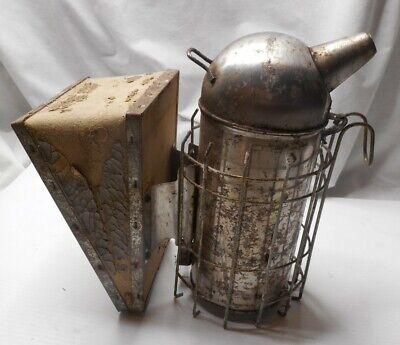 Vintage Working Beekeeper Smoker Bee Hive Primitive Tool Bellows Fogger