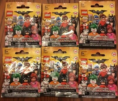 LEGO BATMAN Movie Series 1 Minifigures Blind Bag Lot of 6 New Sealed 71017