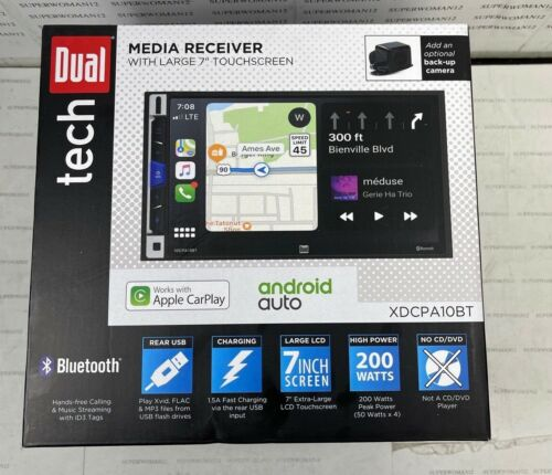 "NEW  Dual Tech XDCPA9BT 7"" Digital Media Receiver FREE SHIPPING!"