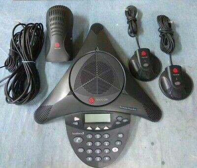 Polycom 2201-16200-601 Soundstation 2 Exp Conference W2 Mics Tested Warranty