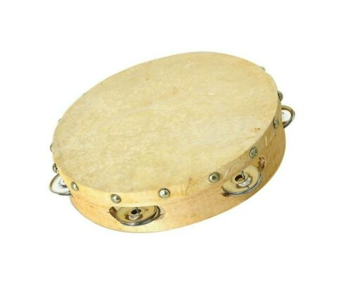 Tambourine Musical Hand Drum Bell Percussion Gift Party Festival US Portable 8