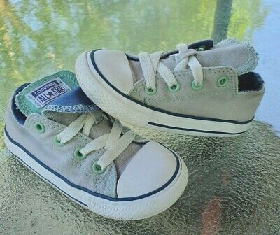 Converse Low Gray/Blue/Mint Toddler 8C