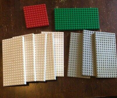 LEGO VINTAGE LOT - BASEPLATE - ASSORTED COLORS - BIG LOT - BASE PLATES