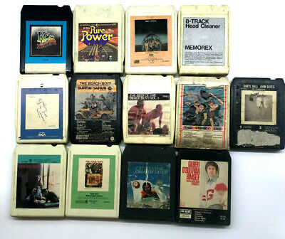 8 Track Tape Lot/Bundle (13) Beach Boys KC ABBA Hall Oates UNTESTED