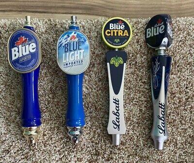 Lot 4 Beer Tap Kegerator Handles, Labatt Blue, Labatt Light, Blue Citra, Labatt