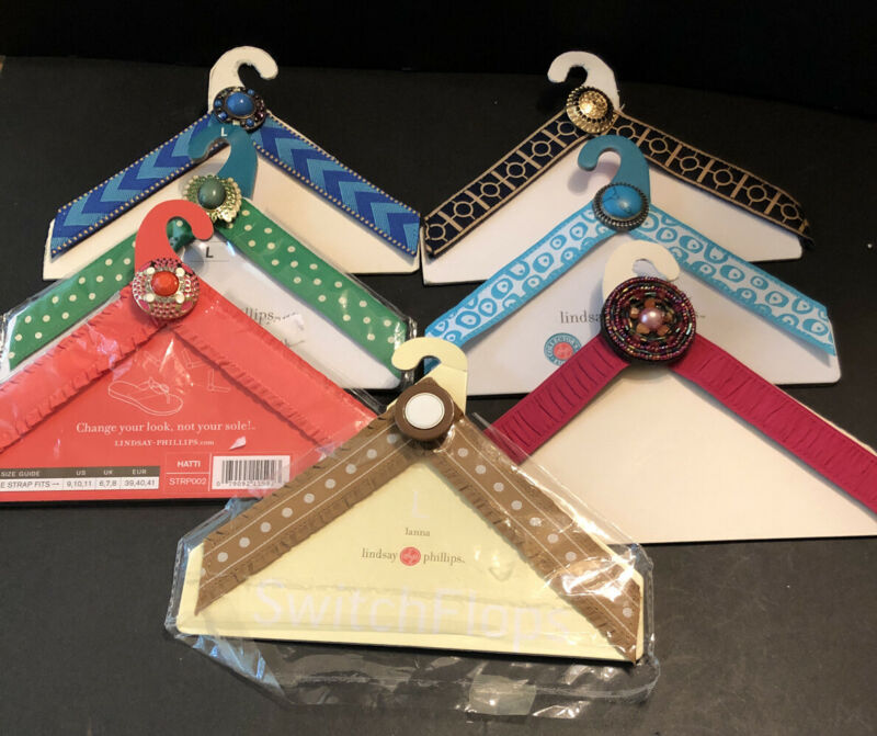 LINDSEY PHILLIPS SWITCHFLOP STRAPS: LOT OF 7 : SIZE LARGE