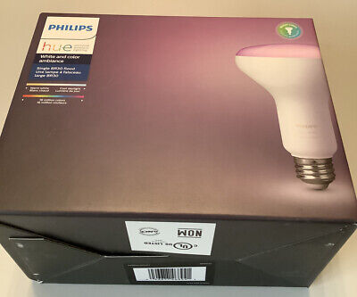 Philips Hue White and Color Ambiance 9W LED Single BR30 Flood Bulb 650 Lumen NEW