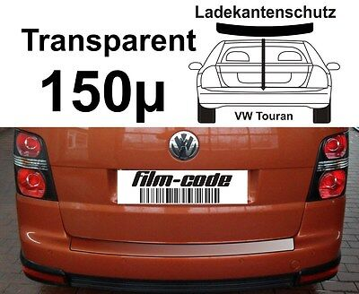 Lackschutzfolie Ladekantenschutz VW Touran  transparent 150µ