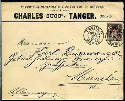 Marokko Brief Tanger  München  1899