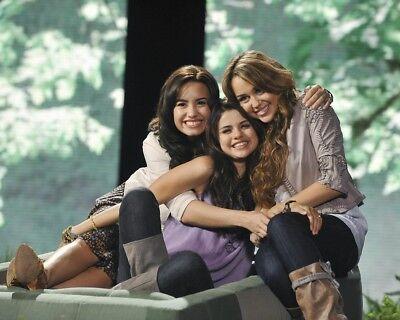 Demi Lovato Selena Gomez and Miley Cyrus 8x10 photo
