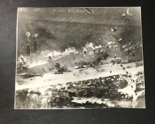 Original June 1944 Press Photo Normandy Coast World War II WWII D-Day U.S. Army