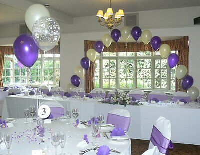 Wedding Balloons Decoration Kit - Hearts Design - All Colours - Arch & 10 Tables