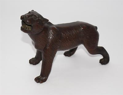 ältere Figur TIGER aus Zinn, ca. 0,8kg, 20cm  #F231