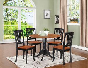 5pc Dinette Set 42 Round Drop Leaf Kitchen Table 4 Avon
