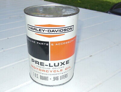 Harley Davidson Pre-Luxe quart metal oil can SAE 60