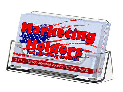 Plastic Business Card Holder Display Counter Lot Of 10 Clear