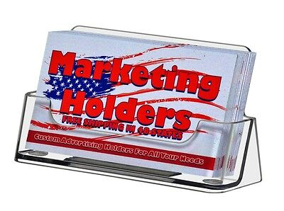 50 Clear Plastic Business Card Holder Display Stand Counter Table Top