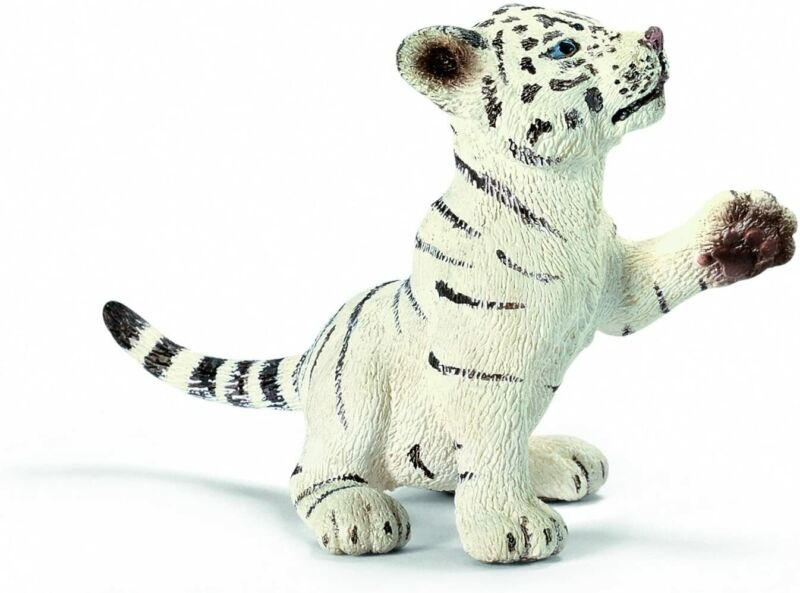 Schleich Wildlife White Tiger (Baby: Playing) Figure 14385 Tracking# Japan New