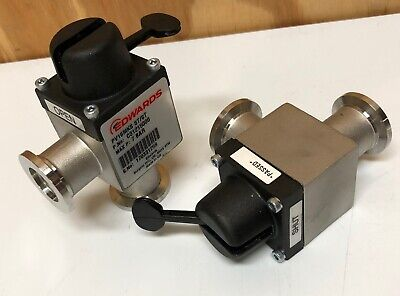 Edwards Pv16mks Stst Manual Right Angle Bellows Isolation Valve C31215000