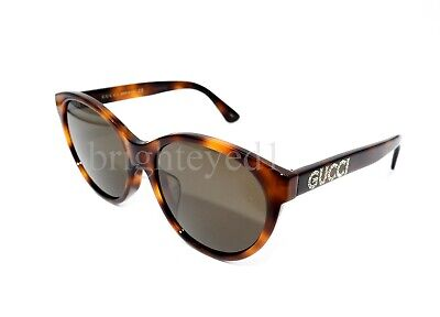 Authentic GUCCI Tortoise Cat Eye Sunglasses GG0419SA - 002 *NEW*