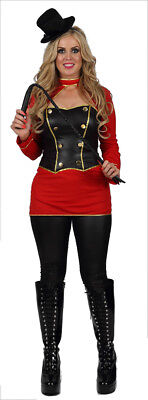 ADULTS SEXY LADIES CIRCUS RINGMASTER BIG TOP LION TAMER FANCY DRESS COSTUME - Lion Tamer Male Costume