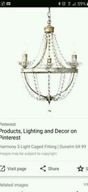 3 light fitting chandelier