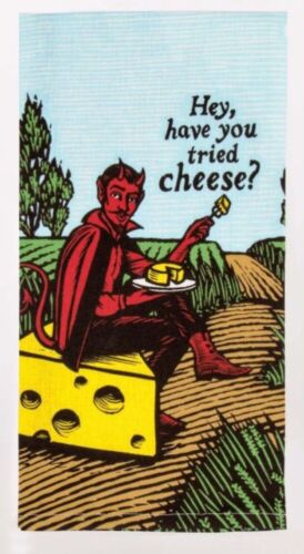 "Blue Q ""Hey, Have You Tried Cheese"" Dish Towel"