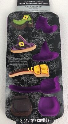 Halloween Mold Witches Broom Hat Shoe & Cauldron Treats Silicone CELEBRATE IT - Halloween Broom Treats