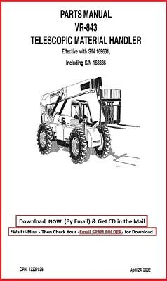 Vr-843 Sn 169631 Up With 168886 Forklift Telehandler Service Parts Manual 2002