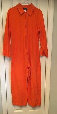 CHARADES BRAND COSTUME ADULT SZ LARGE ORANGE DEPARTMENT OF CORRECTIONS JUMPSUIT ](Department Of Corrections Costume)