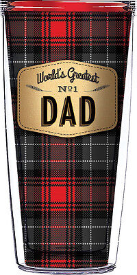 - Signature Tumblers World's Greatest #1 Dad 16oz. Travel Mug With Lid and Straw
