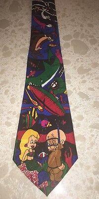 Men's necktie tie Looney Tunes Mania 1993 Elmer Fudd mermaid Warner Bros.