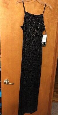 Girls Black Velvet Dress (Nwt Urban Girl Spaghetti  Strap Velvet Long  Dress Black Womens Sz Med)
