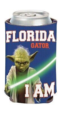 Florida Gators NCAA Can Holder Cooler Blue Bottle Sleeve Star Wars Fan Team Yoda Florida Gators Bottle
