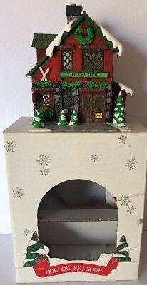 "Vintage DEPT 56 Hide A Way Hollow ""HALLOW SKI  SHOP"" Christmas Village #5352-0"