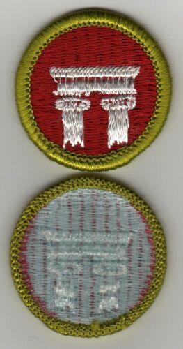 Architecture Merit Badge, Type H, Blue Back Version (1972 - 1975), Mint!