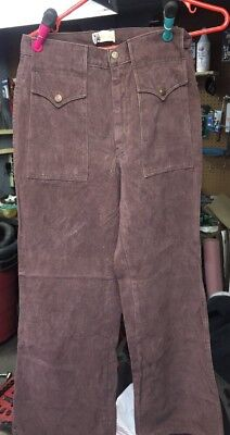 Vintage 1960 / 1970 NW Northwest Brown Pants Women's Size 28, 40 Long