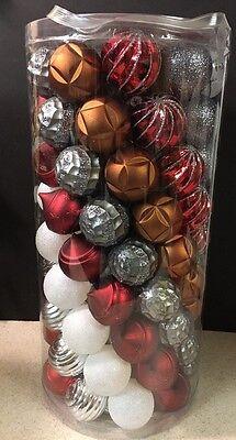 New Martha Stewart 101 pc Ball Christmas Ornaments Winter Tiding Shatter Resist